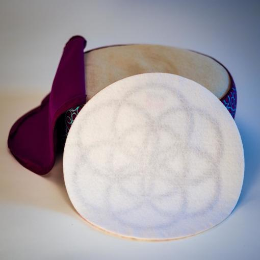 zafu meditation cushion with crystal therapy - PranaPad